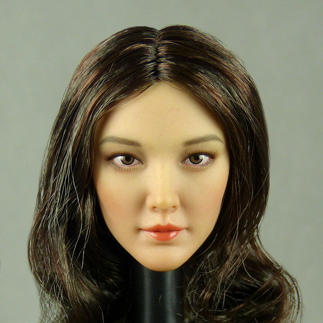 1//6 Scale CAT TOYS CT019C Asian Beauty Short Hair Girl Head Sculpt Fit 12/'/' Doll